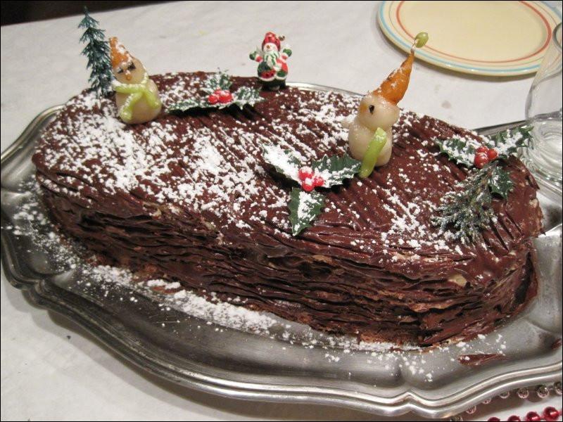 La bûche de Noël, à la base, était un biscuit...