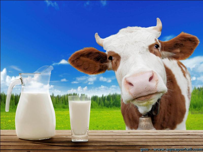 Le lait de vache a une densité moyenne égale à...