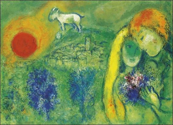 """Quel peintre européen du XXe a réalisé le tableau """"Les Amoureux de Vence"""" ?"""