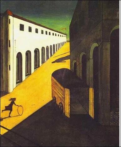 """Du même artiste, voici """"Mystère et mélancolie d'une rue"""". À quel mouvement appartient ce peintre ?"""