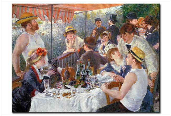 """Qui a peint cette toile nommée """"Le déjeuner des canotiers"""" ?"""