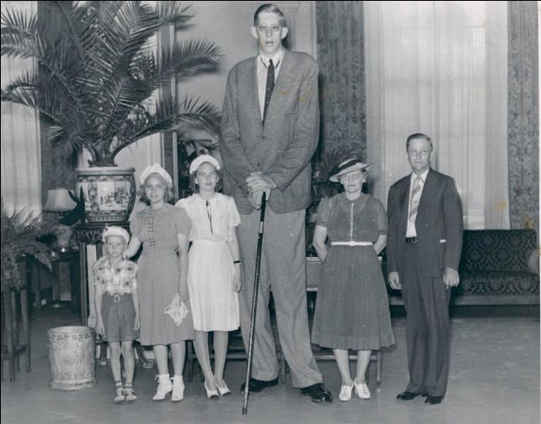 Robert Wadlow détient le record du plus grand homme du monde à ce jour (2020). Combien mesurait-il ?