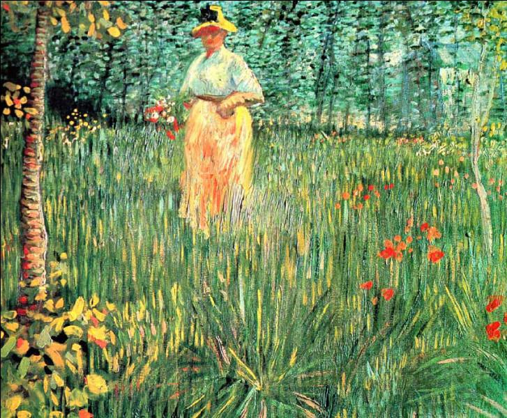 """Qui a représenté cette """"Femme dans un jardin"""" ?"""