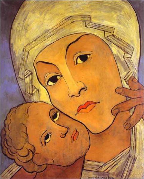 """Qui a représenté cette """"Vierge à l'enfant"""""""