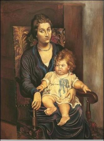 Qui a réalisé le portrait de madame Rosenberg et sa fille ?