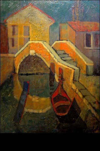 """Qui a représenté ce """"Pont à Venise"""" ?"""