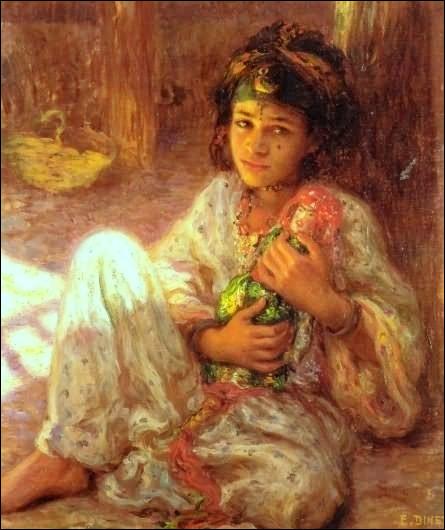 """Qui est l'auteur de cette peinture orientale nommée """"Poupée"""" ?"""