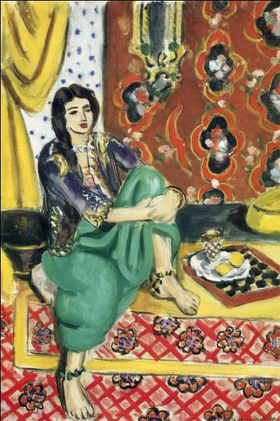 """Qui a peint """"Odalisque assise avec le plateau"""" ?"""