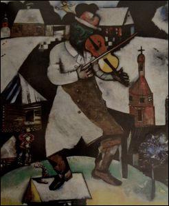 Quel est le titre de cette toile exécutée par Marc Chagall ?