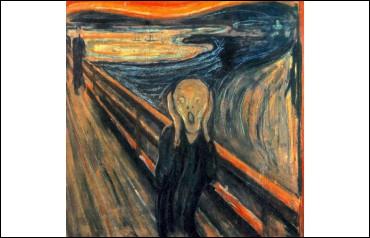 """Dans le tableau """"Le Cri"""" d'Edvard Munch, quelle est la bonne réponse ?"""