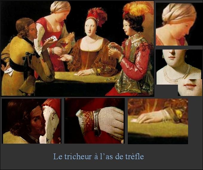 """Le tableau de Georges de la Tour """"Le Tricheur à l'as de trèfle"""" a longtemps été attribué à un autre peintre ; quel est le nom de ce peintre, également auteur d'un tableau représentant un tricheur ?"""