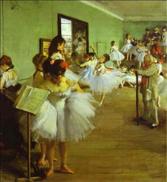 """Pour l'élaboration du tableau intitulé """"L'Examen de danse"""", Edgar Degas a assisté à ce cours de danse."""