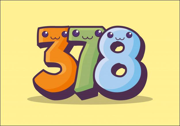Quel est le chiffre des dizaines dans ''378'' ?