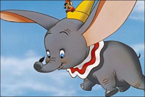 Qui est cet éléphant aux oreilles démesurément grandes qui lui permettent de voler ?