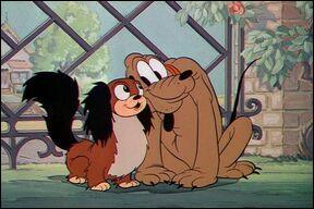Qui est cette chienne de la race du pékinois devenue le flirt régulier de Pluto ?