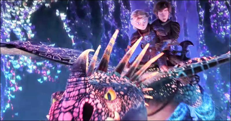 Où sont Tempête, Harold et Astrid sur cette image ?