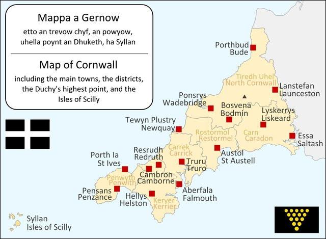 Les Corniques - environ 180 000 actuellement - habitent l'extrême partie sud-ouest de l'Angleterre. D'où leur vient ce nom ?