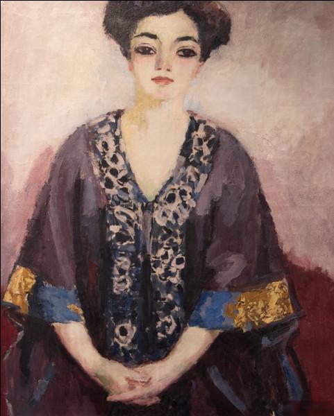 """Qui a peint """"Portrait de jeune femme en violet"""" ?"""