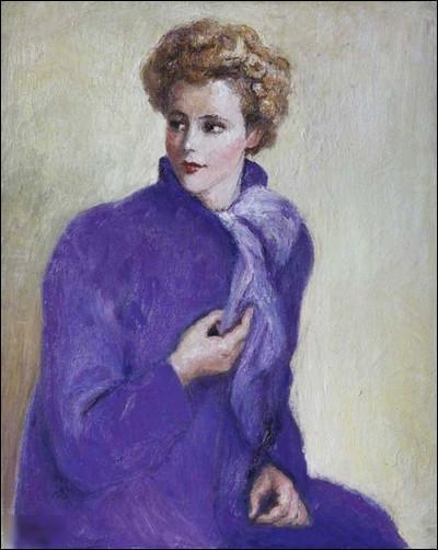 """""""Portrait de femme en violet"""" est un tableau de quel peintre ?"""