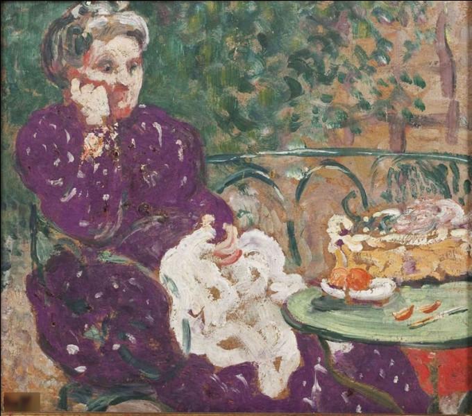 """Quel peintre est l'auteur du tableau """"Femme au jardin"""" ?"""