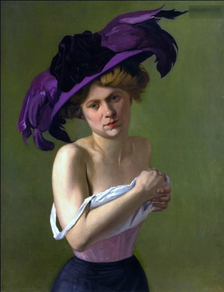 Peinture - Spécial tableaux de femmes en violet