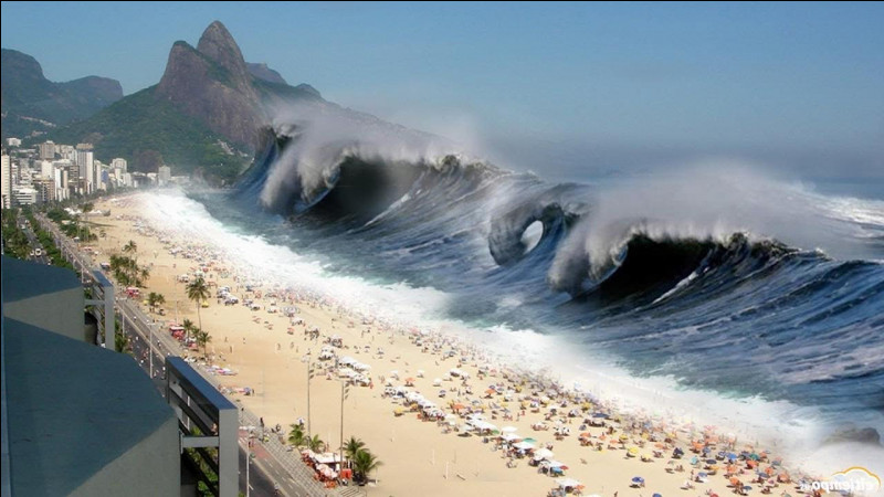 Parmi ces catastrophes naturelles laquelle est une géante vague ?