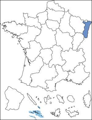 Quelle est la région colorée ?