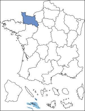 Quel est le nom de la région qui est en bleu ?