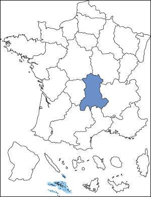 Quel est le nom de la région en couleur ?