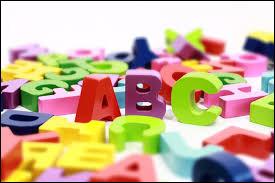 """Dans l'ordre de l'alphabet, quelle lettre se trouve entre le """"d"""" et """"f"""" ?"""