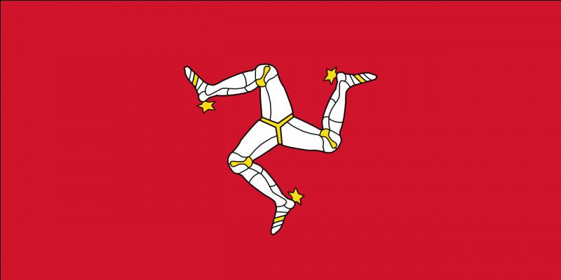 Vous vous promenez maintenant sur la promenade du Loch à Douglas. Mais vous êtes surpris par ce drapeau...étrange qui est celui de l'île. Que pouvez-vous observer sur le drapeau ?