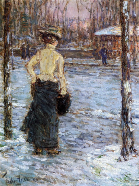 """Qui a peint """"L'hiver à Central Park"""" ?"""
