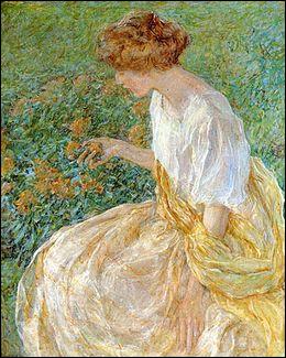 """Qui a peint """"La Fleur jaune"""" ?"""