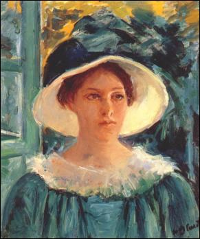 À qui doit-on le portrait de cette jeune femme en vert ?