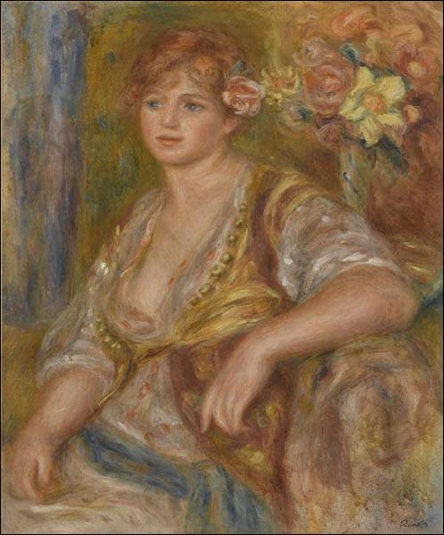 "Qui a peint ""Blonde à la rose"" ?"