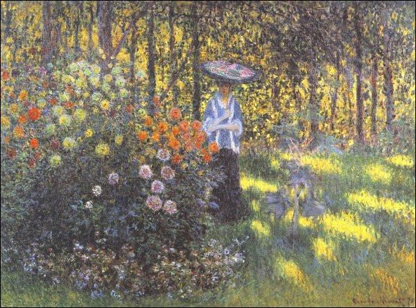 """Qui a peint """"La Femme à l'ombrelle au jardin"""" ?"""