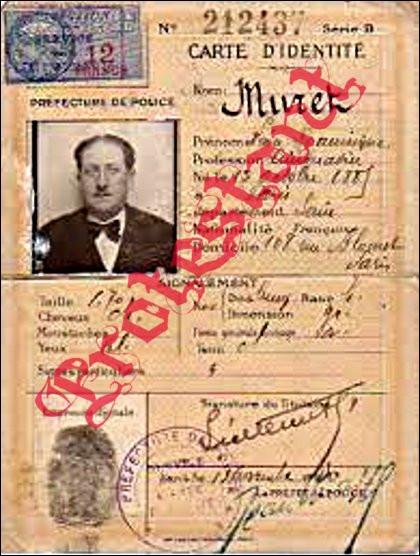 C'est en novembre 1940 que la carte nationale d'identité devient obligatoire. À votre avis ?