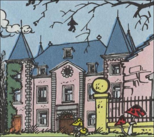 Dans quelle série de bandes dessinées peut-on trouver le château de Champignac qui est la copie conforme du château de Skeuvre en Belgique ?