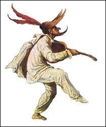 Bouffon jouant dans les comédies vénitiennes :