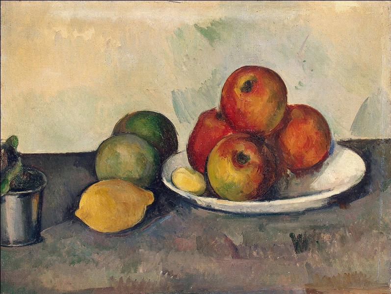 ''Nature morte aux pommes'' - Qui a peint ce tableau, en photo ?