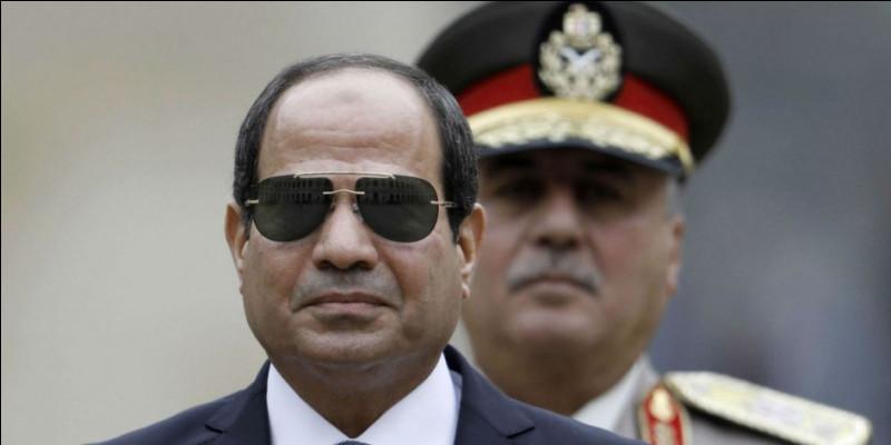 Abdel Fattah al-Sissi.Période : depuis le 28 mai 2014.Parti politique : Indépendant.Tendance : nationalisme - conservatisme - militarisme - austérité économique.