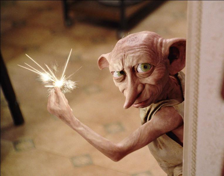 Comment s'appelle l'elfe qui envahit la chambre de Harry ?