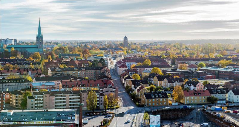 Ville suédoise de 100 000 habitants, chef-lieu du comté d'Östergötland, centre de l'industrie aéronautique suédoise :