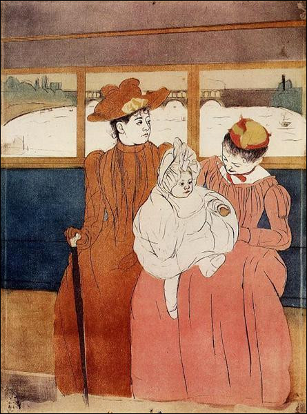 """Qui a peint """"Intérieur d'un tramway passant un pont"""" ?"""