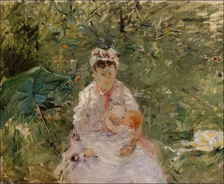 """Qui a peint """"L'infirmière humide Angele nourrit Julie Manet"""" ?"""