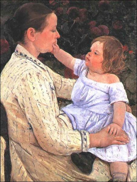 """Qui a peint """"La caresse de l'enfant"""" ?"""
