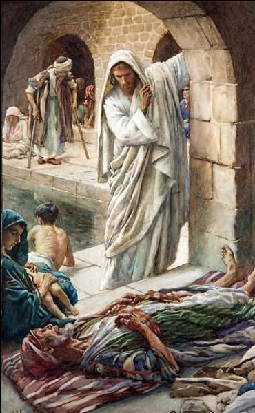 """Jésus guérit un paralysé devant une piscine réputée """"miraculeuse"""". Comment est-elle nommée ?"""