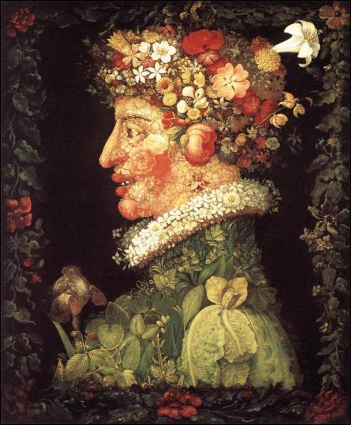 Peintre lombard du XVIe siècle, Giuseppe Arcimboldo est célèbre pour ses portraits composés à partir de fruits et légumes. Il fut un éminent représentant du courant :