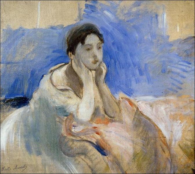 """Qui a peint """"Jeune femme appuyée sur ses coudes"""" ?"""