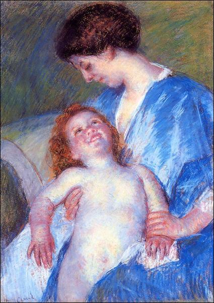 """Qui a peint """"Bébé souriant à sa mère"""" ?"""